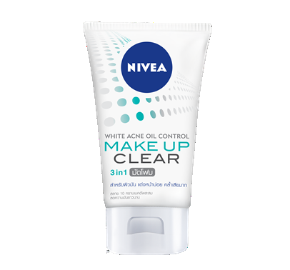 ニベア NIVEA WHITE ACNE OIL CONTROL MAKE UP CLEAR MUD FOAM 100g