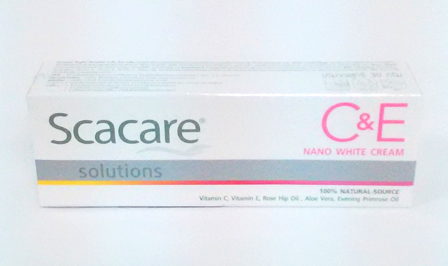 Scacare C&E NANO WHITE CREAM 100%NATURAL-SOUECE 4個セット